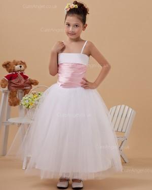 Cheap Stunning Ivory Ankle Length Ball Gown First Communion / Flower Girl Dress