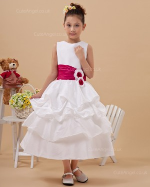Fitted Celebrity Ivory Tea-length A-line First Communion / Flower Girl Dress