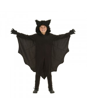 Child Animal Cosplay Cute Bat Costume Kids Halloween Costumes for Girls Black Jumpsuit Connect Wings Bat Clothes