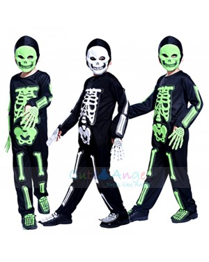 Cosplay Masquerade Halloween dresses Environmental EVA Skeleton mask Children Horror Suit